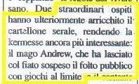 Rassegna Stampa Andrew Zoom+ Giornale Caserta RITAGLIO MIGLIORATO